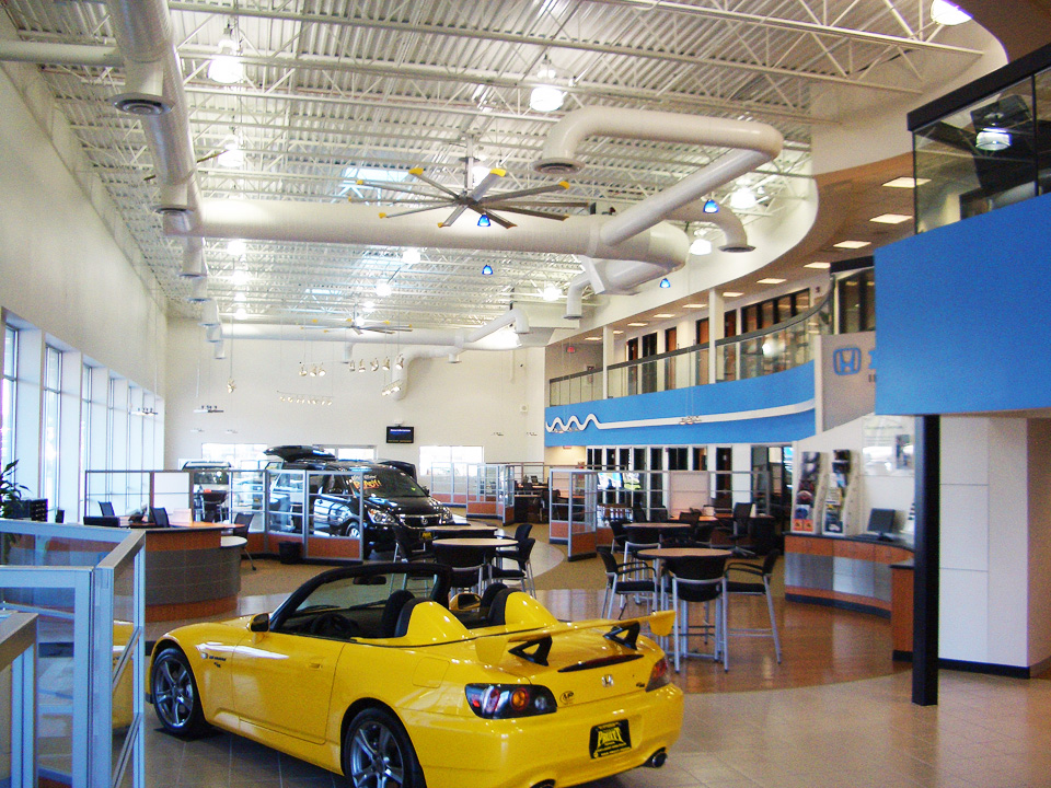 Dph architecture retail projects for The honda store boardman ohio